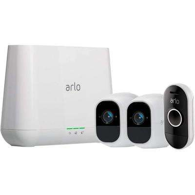 Pro 2 1080p Smart Home Security Surveillance System with 2 Wireless Cameras and Audio Doorbell
