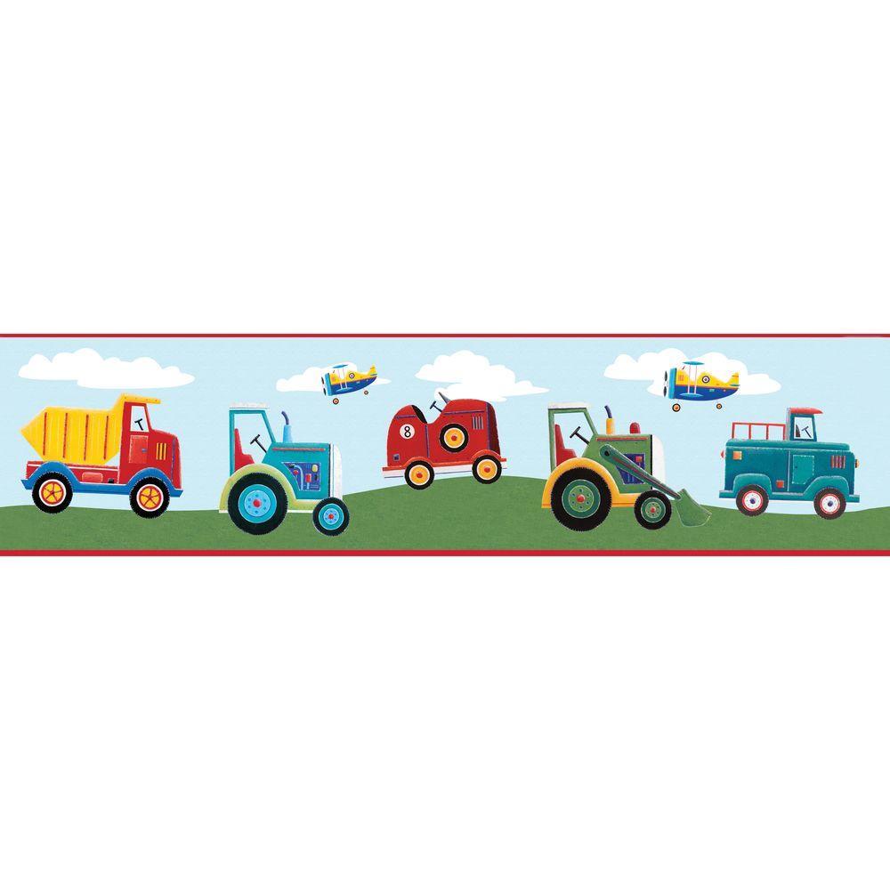 Yards Transportation Peel and Stick Wallpaper Border
