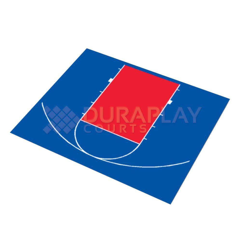 DuraPlay 30 ft. 5 in. x 25 ft. 5 in. Half Court Basketball Kit