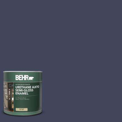 1 qt. #S530-7 Dark Navy Semi-Gloss Enamel Urethane Alkyd Interior/Exterior Paint