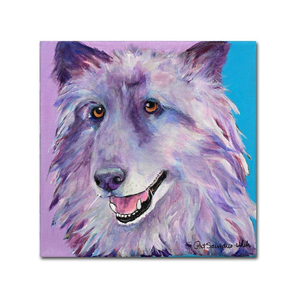14 in. x 14 in. Puppy Dog Canvas Art