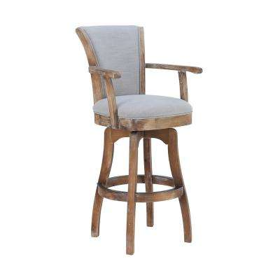 Raleigh 45 in. Putty Ivory Arm Barstool