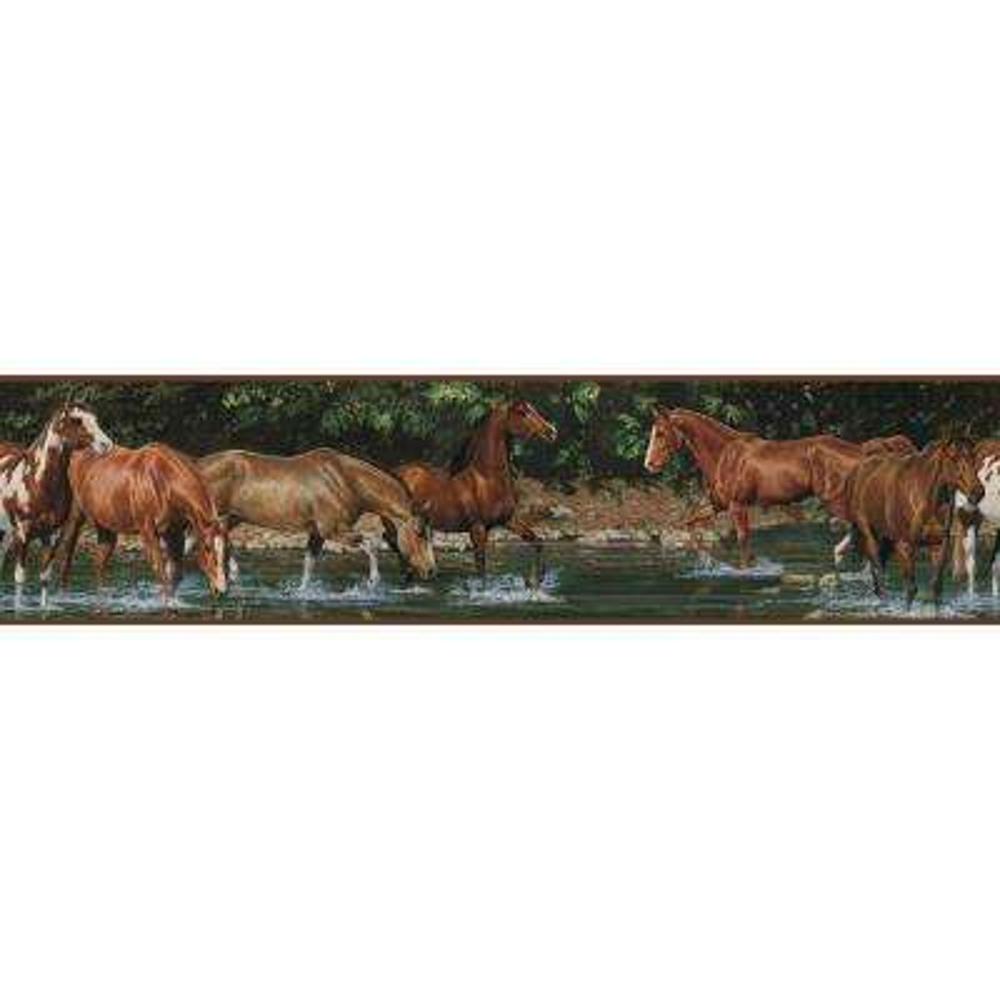 Wild Horses Peel and Stick Wallpaper Border