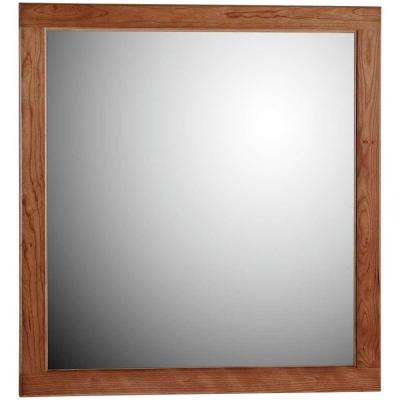 Ultraline 30 in. W x .75 in. D x 32 in. H Framed Wall Mirror in Medium Alder