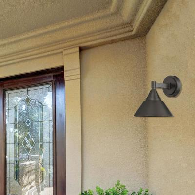 Fremont 11-Watt 8 in. Oil Rubbed Bronze Outdoor Integrated LED Wall Lantern Sconce