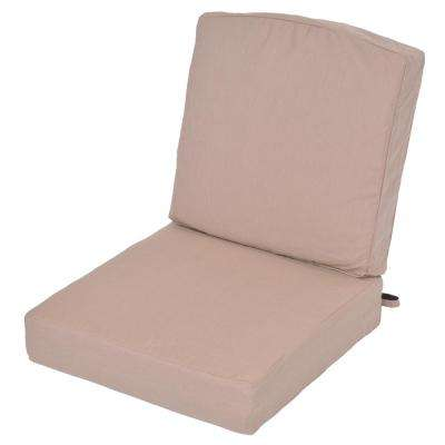 Oak Cliff Sunbrella Spectrum Sand Replacement 2-Piece Deep Seating Outdoor Lounge Chair Cushion