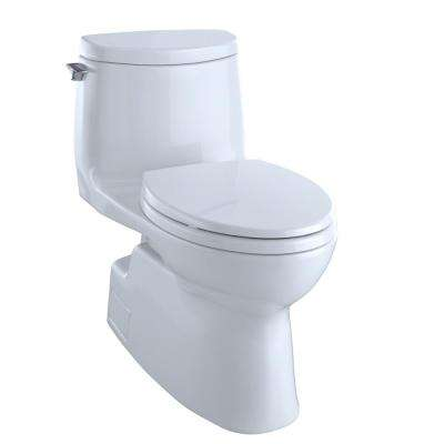 Carlyle II 1-Piece 1.0 GPF Single Flush Elongated Skirted Toilet with CeFiONtect in Cotton White