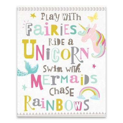 """You Play With Fairies Recolor1""  by Lot26 Studio Printed Canvas Wall Art"