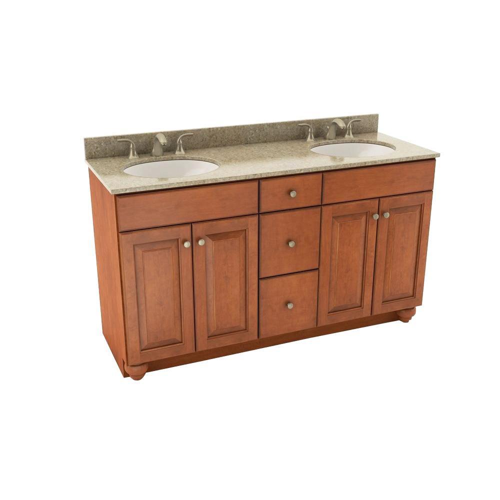 American Woodmark Charlottesville 61 In Vanity In Cognac