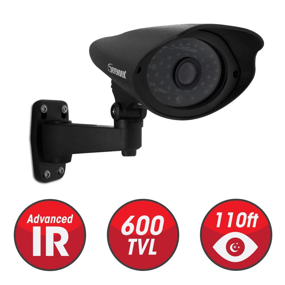 Defender Wired 600TVL High Resolution Indoor/Outdoor Security Camera with 110 ft. Night Vision