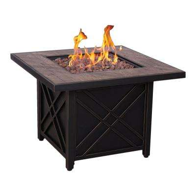 Darwin 34.5 in. Steel Fire Pit in Night Black Finish