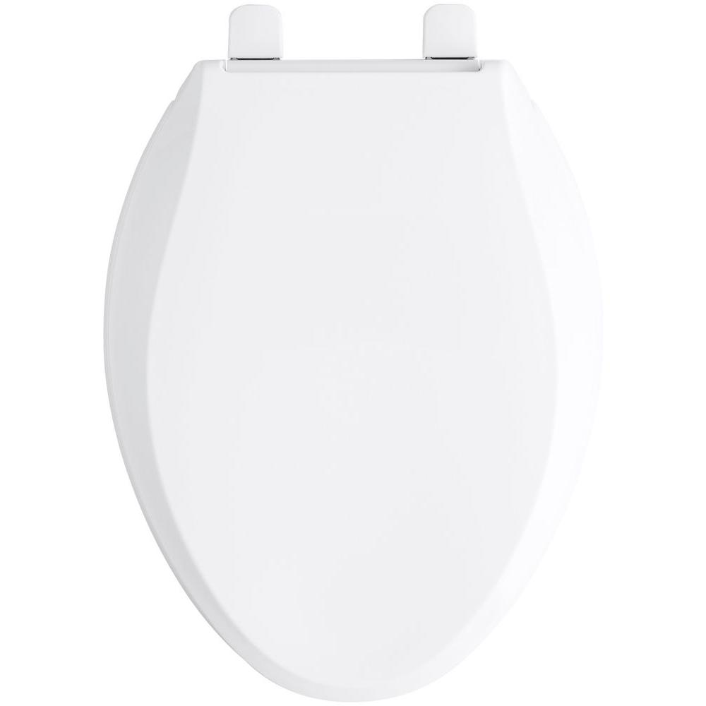 Miraculous Kohler Cachet Quiet Close Elongated Closed Front Toilet Seat With Grip Tight Bumpers In White Pdpeps Interior Chair Design Pdpepsorg