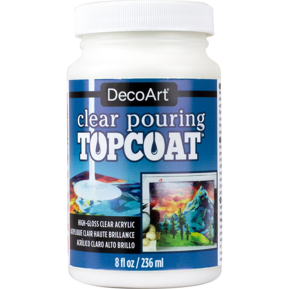 Decoart 8 oz. Clear Pouring Top Coat, Clear Pouring Topcoat