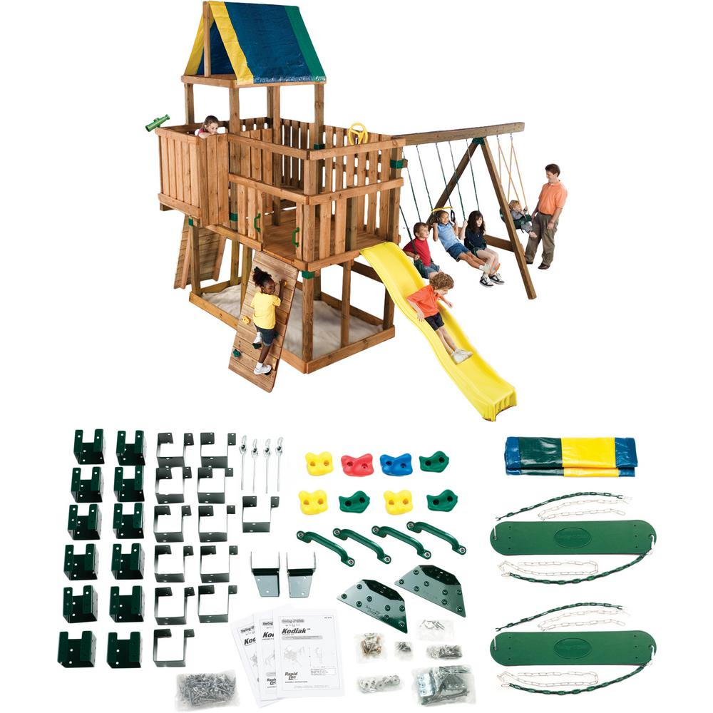 Swing N Slide Playsets Do It Yourself Kodiak Custom Playset Lumber And Slide Not Included