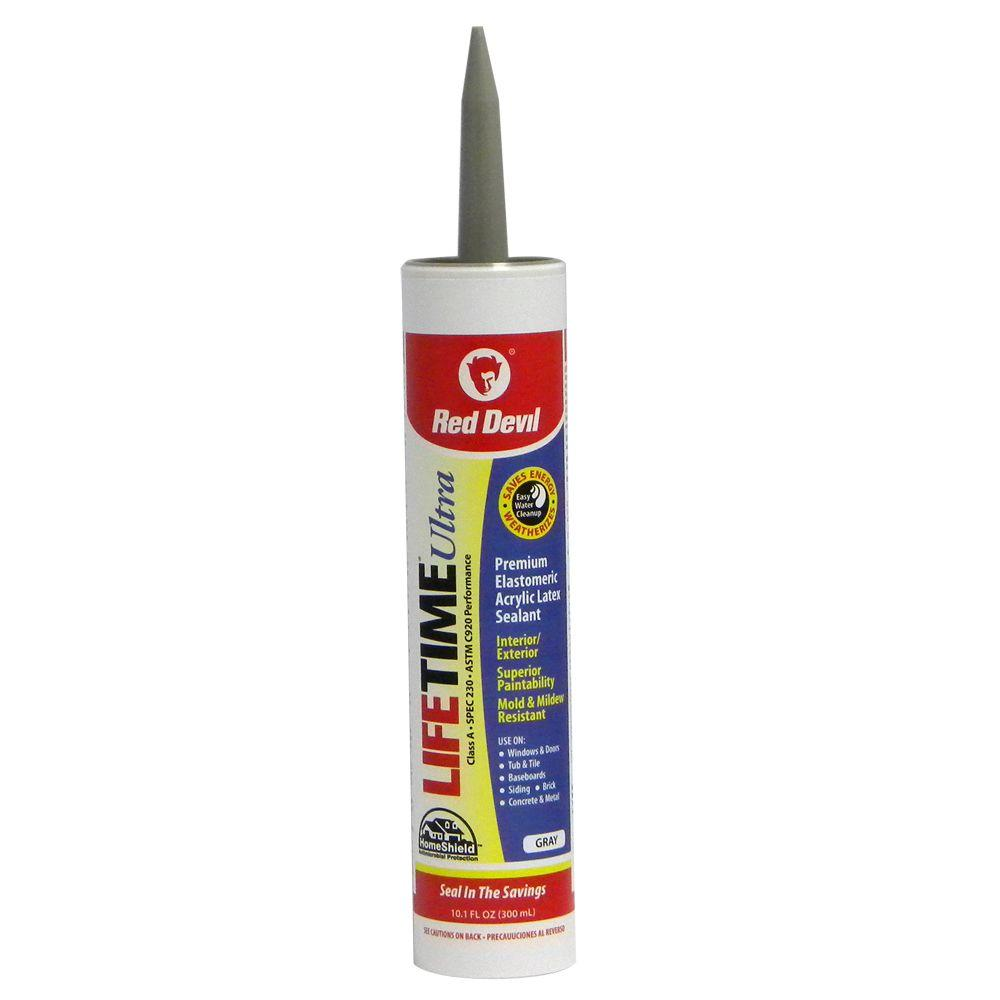 Lifetime Ultra 10.1 oz. Gray Acrylic Latex Caulk
