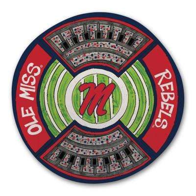 University of Mississippi Ole Miss Football Stadium Melamine Platter