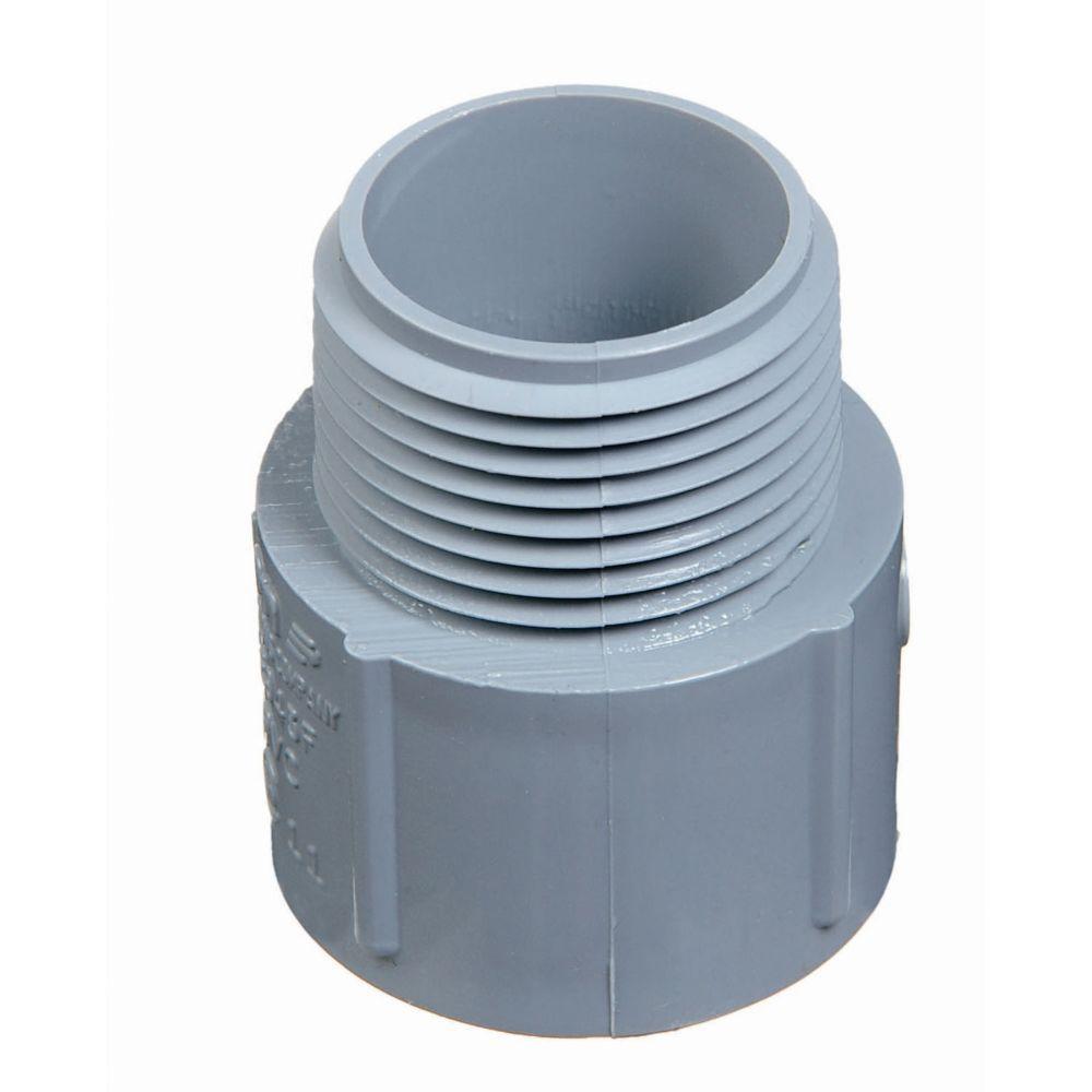 Carlon 2 in. Non-Metallic Male Terminal Adapter