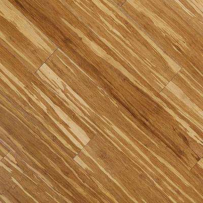 Strand Woven Tiger Stripe 3/8 in. Thick x 3-3/4 in. Wide x 36 in. Length Click Lock Bamboo Flooring (22.69 sq. ft./case)