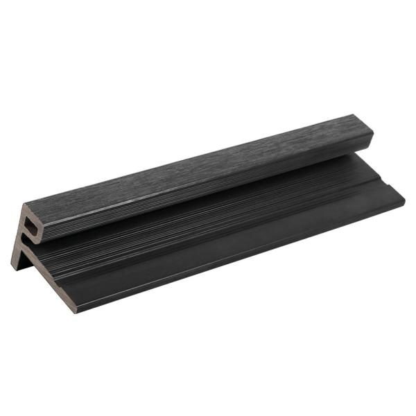 European Siding System 2.1 in. x 3.0 in. x 8 ft. Composite Siding End Trim Board in Hawaiian Charcoal