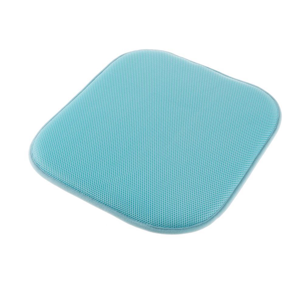 Lavish Home Turquoise Memory Foam Non Slip Chair Pad HW8911046