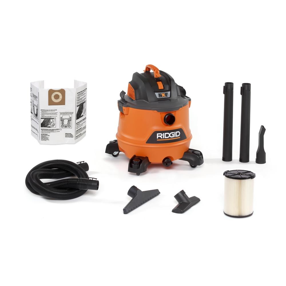 RIDGID 14 Gal. 6.0-Peak HP NXT Wet/Dry Shop Vacuum with Filter, Hose and Accessories
