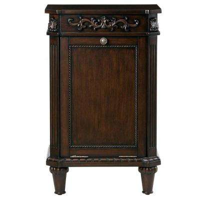 W Pull Open Hamper In Antique Cherry