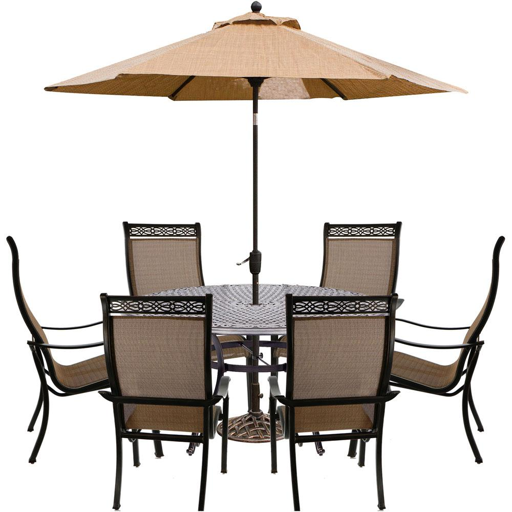 Hanover manor 7 piece aluminum outdoor dining set with 6 dining hanover manor 7 piece aluminum outdoor dining set with 6 dining chairs cast aloadofball Images