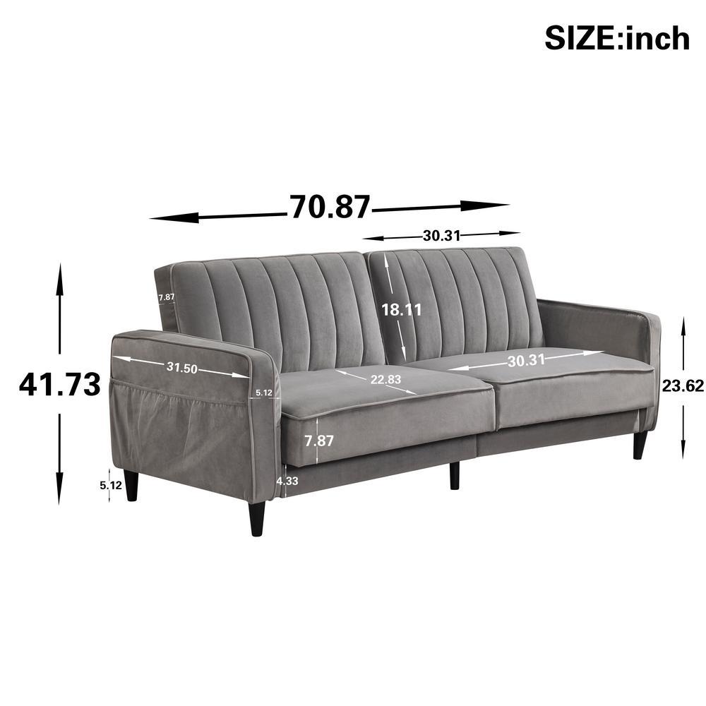 Brilliant Vintage Gray High End Velvet Sleeper Sofa Bed Pdpeps Interior Chair Design Pdpepsorg