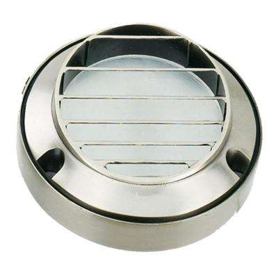 Stainless Steel 1-Light Deck Step Light with Clear Glass