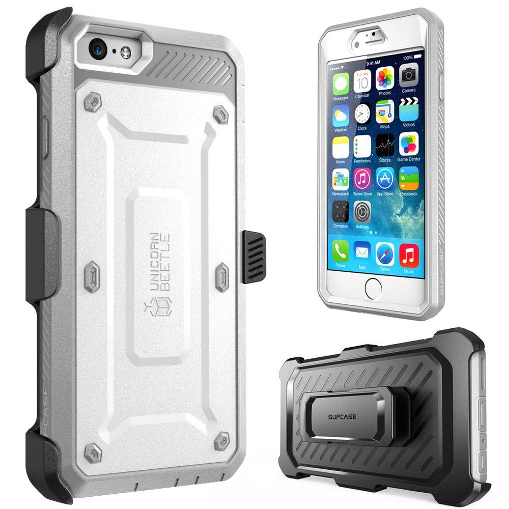 SUPCASE Unicorn Beetle Pro Full-Body Case for Apple iPhone 6/6S, White/Gray