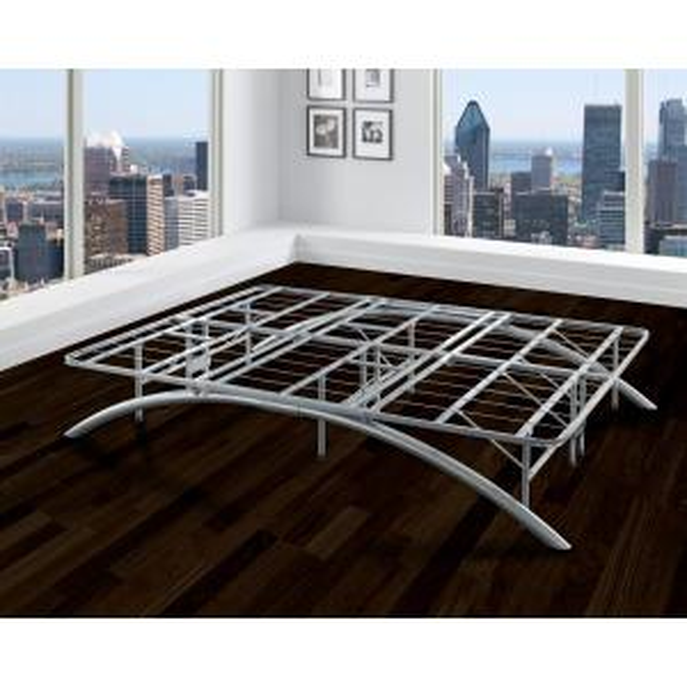 Rest Rite QueenSize Dome Arc Platform Bed Frame in Silver