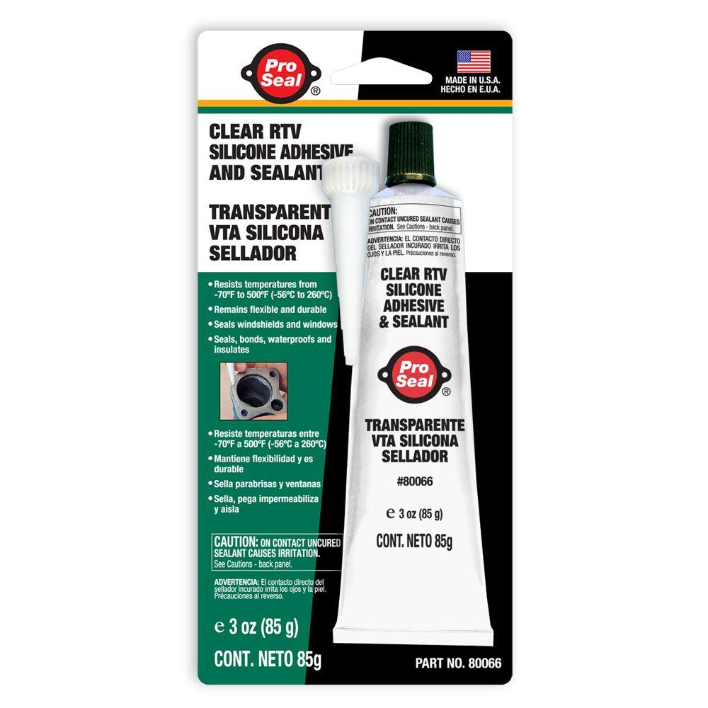 ProSeal 3 oz. Clear RTV Silicone Adhesive and Sealant (12-Pack)