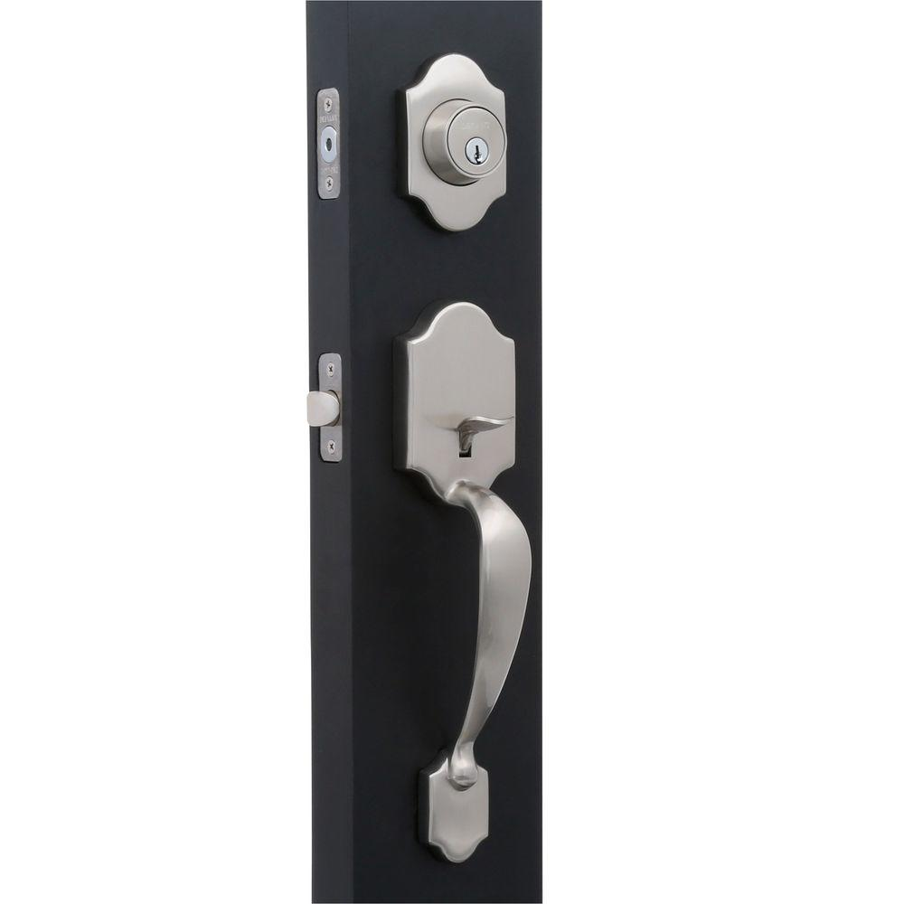Genial Defiant Springfield Satin Nickel Mushroom Door Handleset
