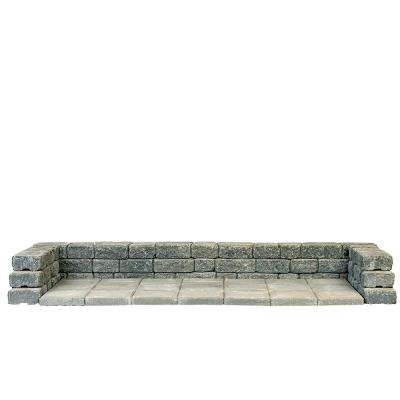 8.33 ft. x 3.67 ft. x 1 ft. Cascade Blend Concrete Trash and Recycle Bin Platform