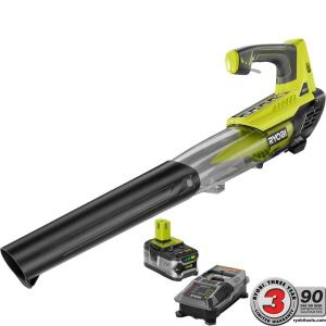 ONE+ 100 MPH 280 CFM Variable-Speed 18-Volt Lithium-Ion Cordless Jet Fan Leaf Blower 4Ah Battery and Charger Included