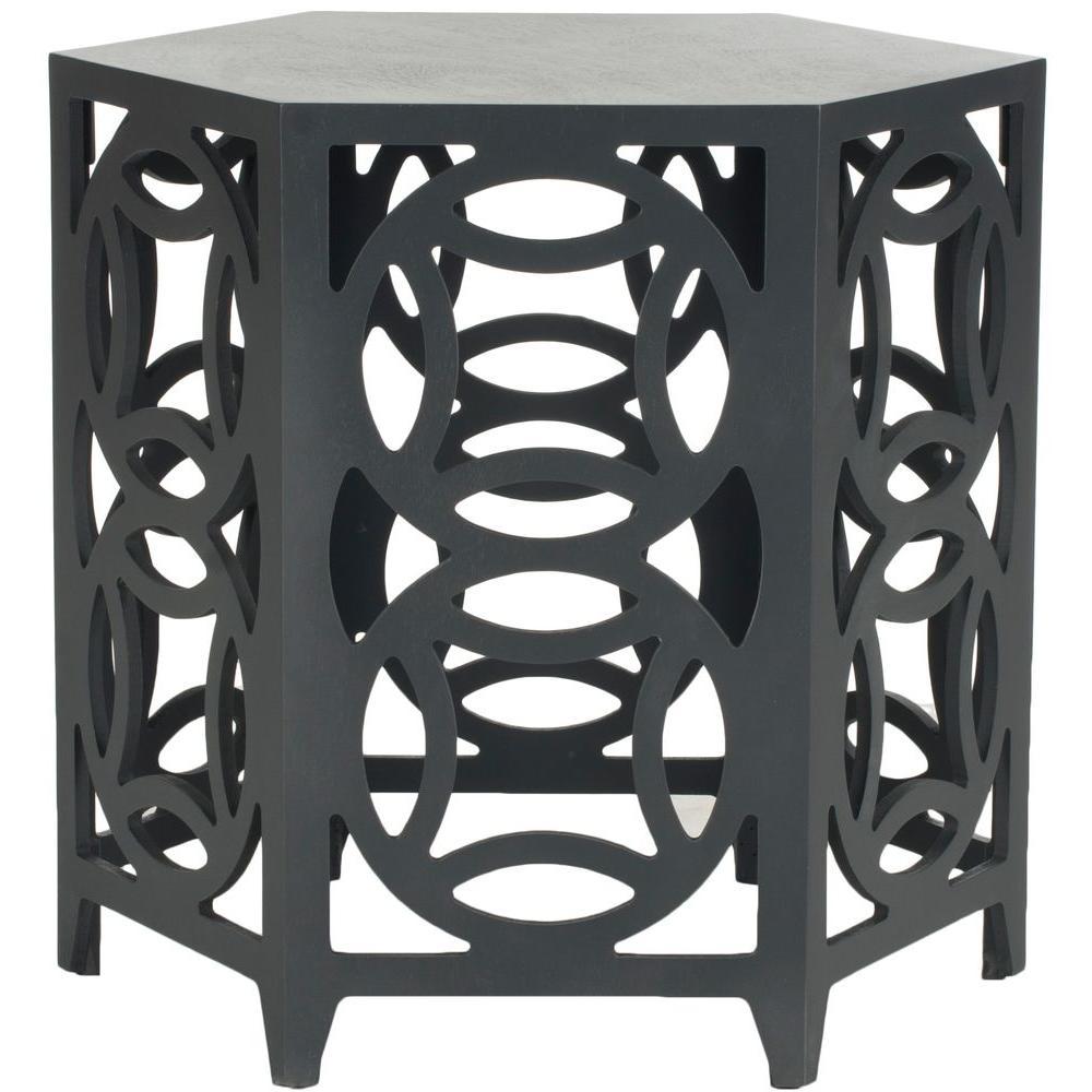 Natanya Charcoal Grey Side Table