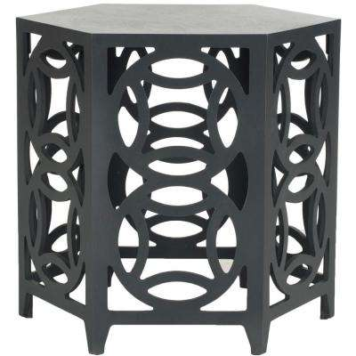 Natanya Charcoal Grey Side Table