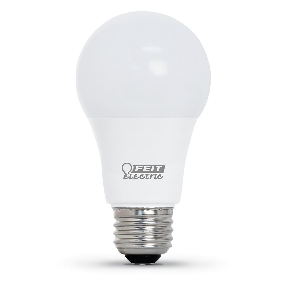Feit Electric 60-Watt Equivalent Bright White A19 CEC Title 24 Compliant LED 90+ CRI Garage Door Opener Light Bulb
