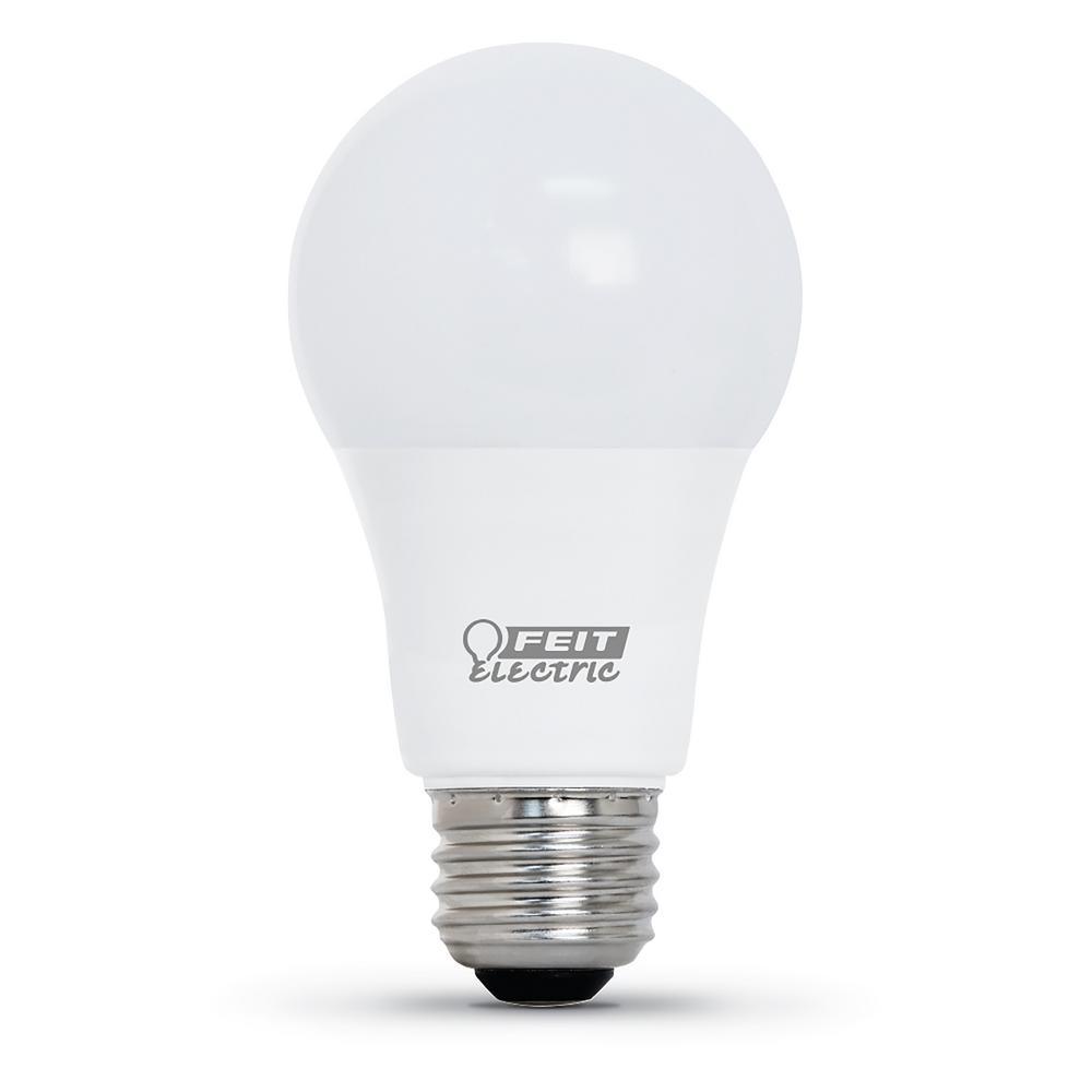 Feit Electric 60 Watt Equivalent Bright White A19 Cec Title 24 Compliant Led 90 Cri Garage Door Opener Light Bulb Om60930ca 10kled Gar The Home Depot