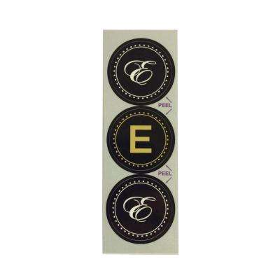 E Monogram Decorative Bathroom Sink Stopper Laminates (Set of 3)