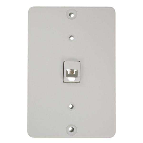 Surface White Mount Wallphone Plate
