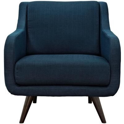 Verve Azure Upholstered Fabric Armchair
