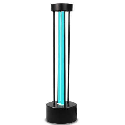 17.32 in. Black Radar and Wi-Fi Ultraviolet Germicidal Lamp Quartz Light with Remote Control Timer Function