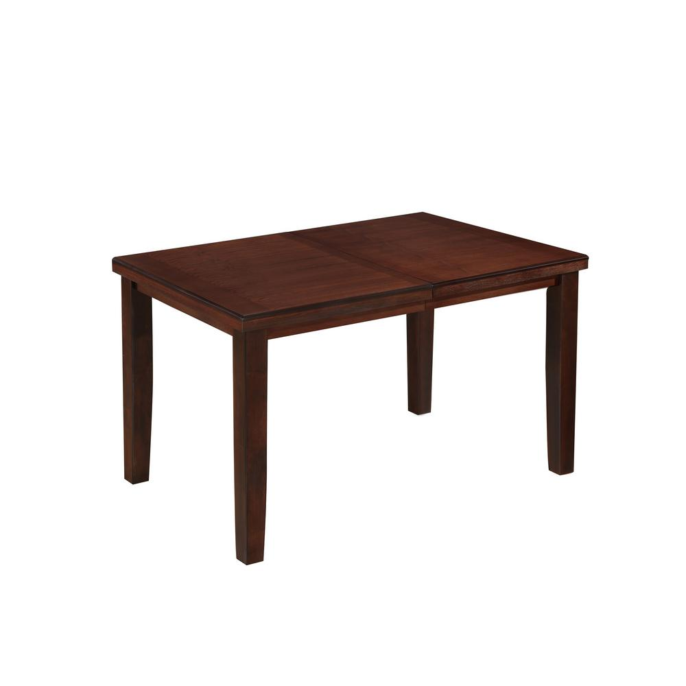 Corliving Warm Brown Counter Height Dining Table With Extendable Leaf
