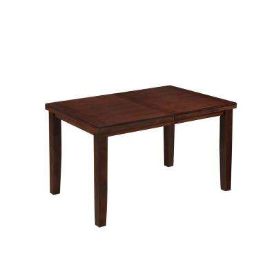 Warm Brown Counter Height Dining Table with Hidden Extendable Leaf