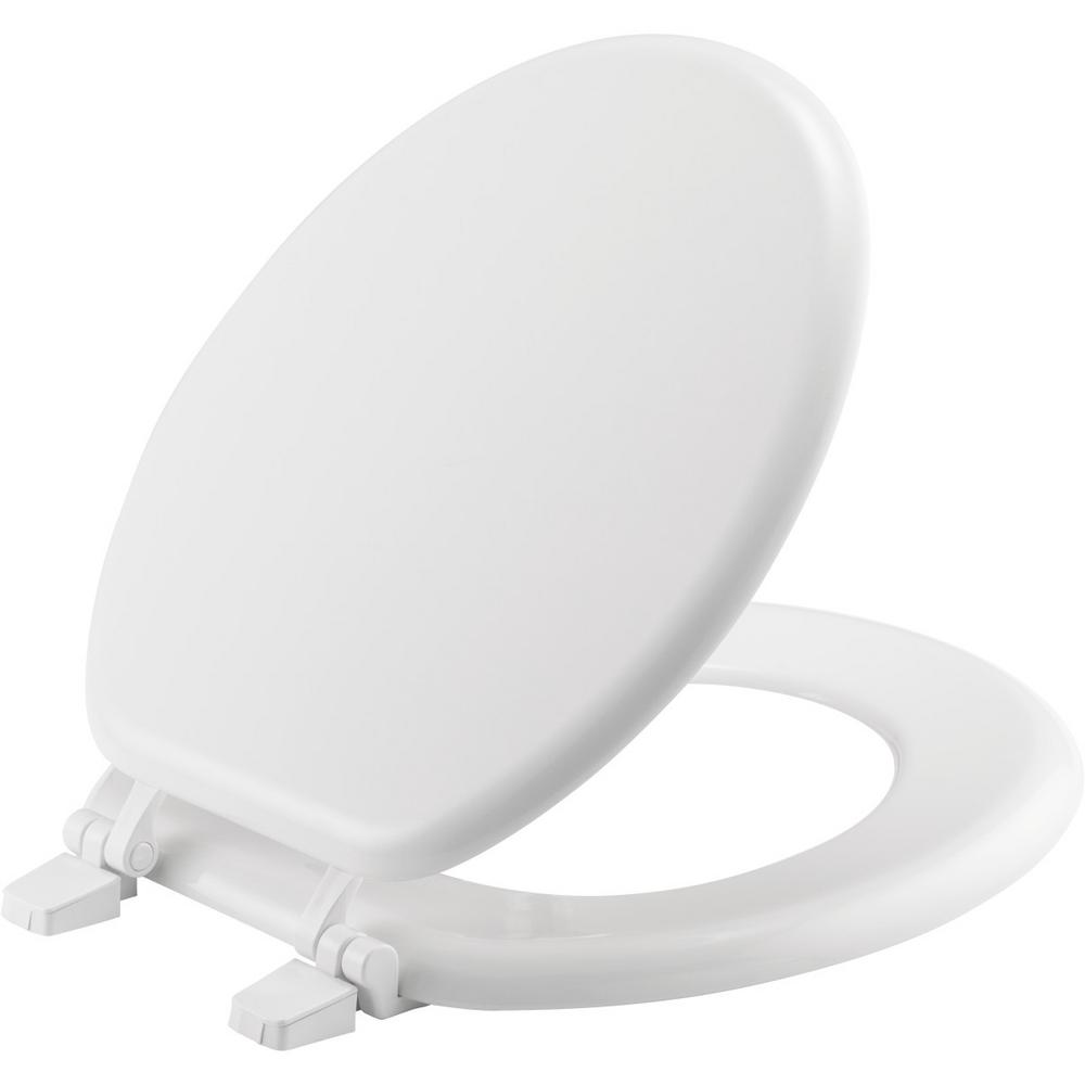 Church Round Closed Front Toilet Seat in White