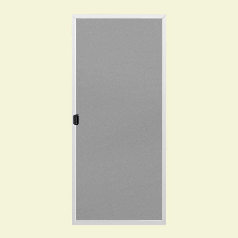 Odl brisa white screen double door pack brddwe the home for Double pocket door home depot