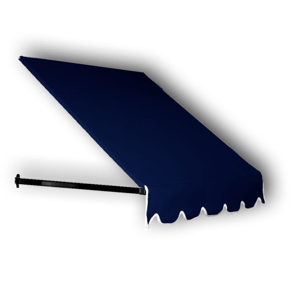 AWNTECH 6 ft. Dallas Retro Window/Entry Awning (16 in. H x 30 in. D) in Navy