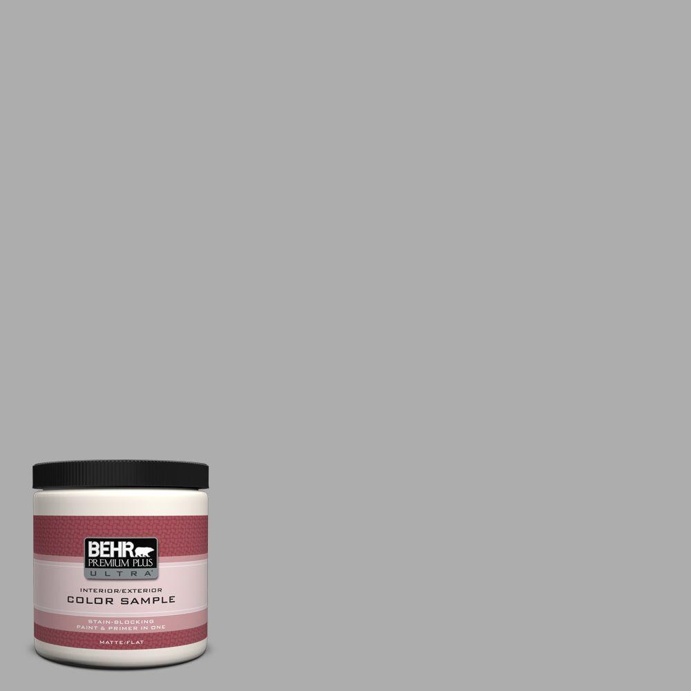 8 oz. #N520-3 Flannel Gray Interior/Exterior Paint Sample