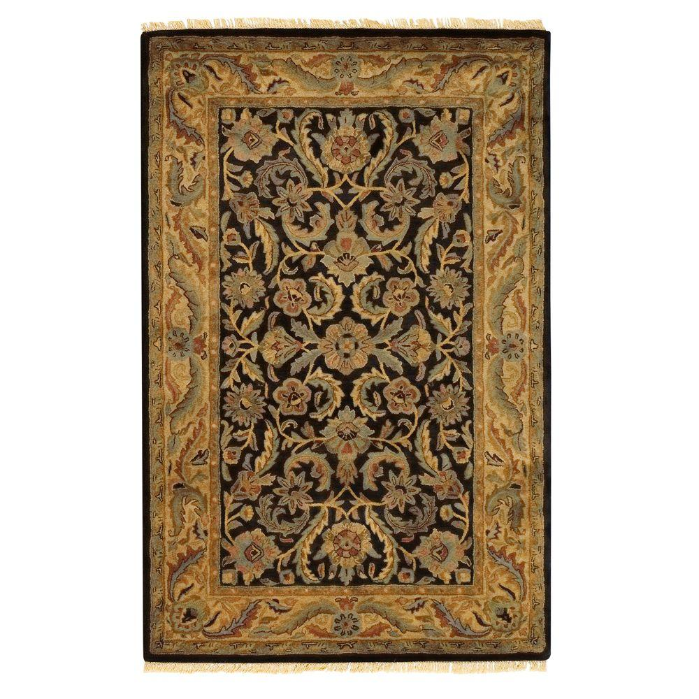 home decorators collection chantilly black 2 ft x 3 ft